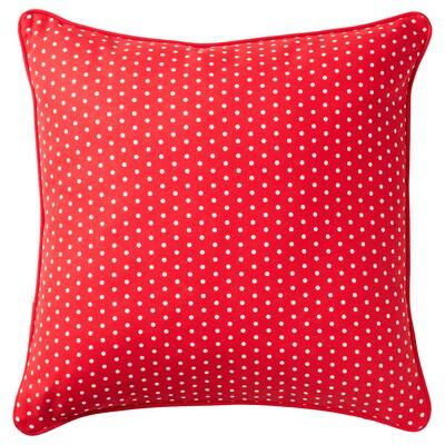 MALINMARIA Poduszka, czerwony/biały w kropki, 40x40 cm
