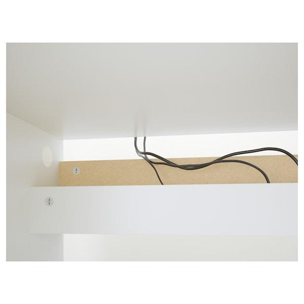 MALM Biurko, biały, 140x65 cm