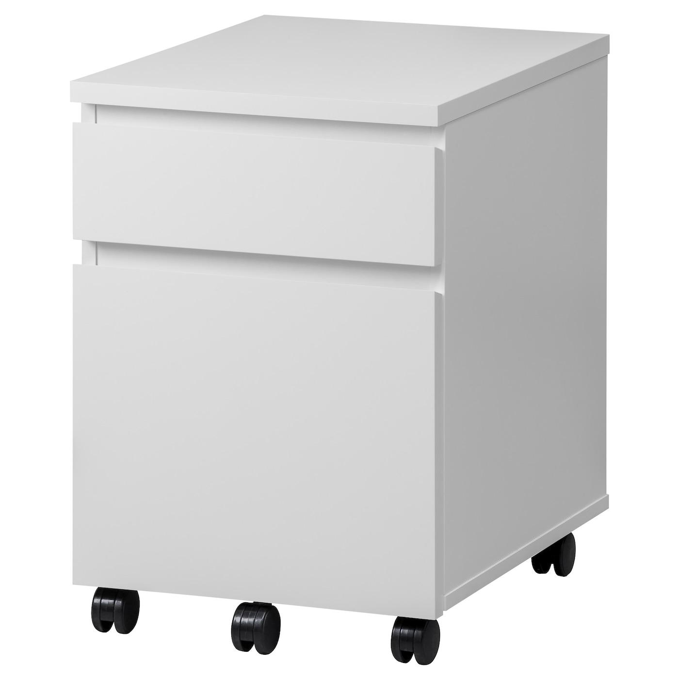 IKEA MALM biała komoda na kółkach, 42x59 cm