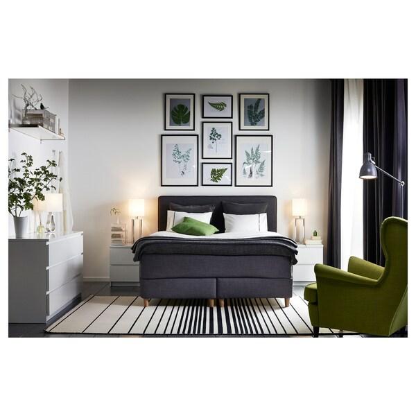 MALM Komoda, 2 szuflady, biały, 40x55 cm