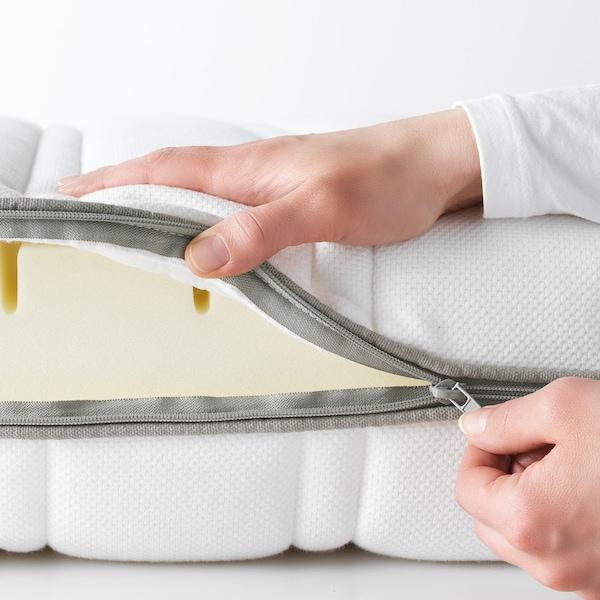 MALVIK Materac piankowy, średnio twardy/biały, 90x200 cm