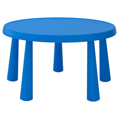 MAMMUT stolik dziecięcy do wewnątrz/na zewnątrz niebieski 48 cm 85 cm