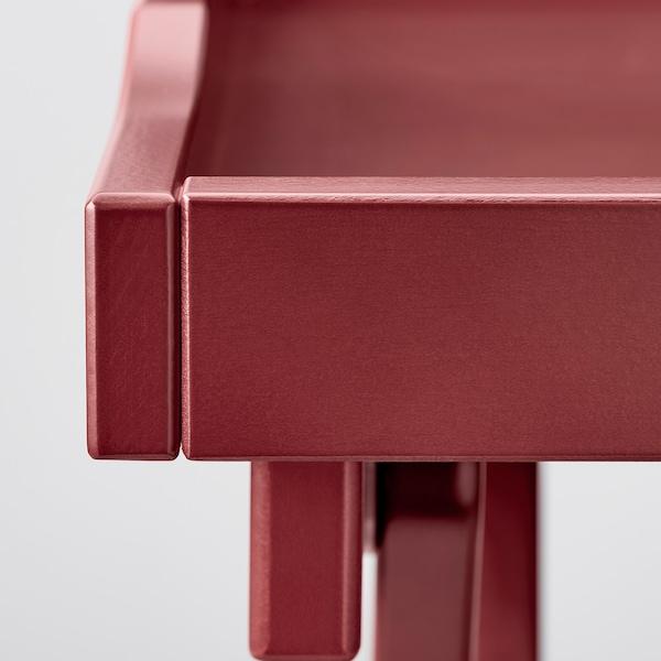 MARYD Stolik z tacą, ciemnoczerwony, 58x38x58 cm