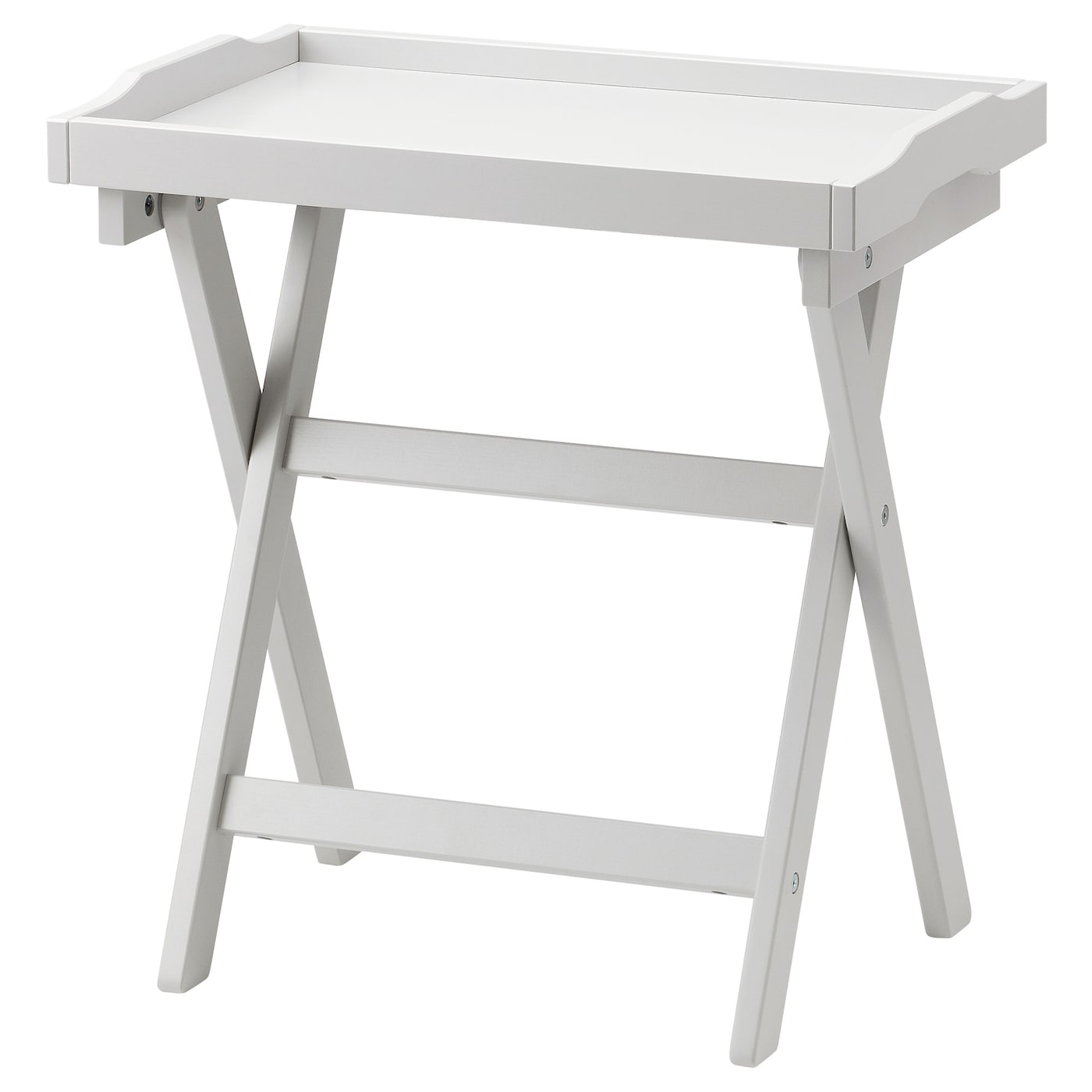 IKEA MARYD szary stolik z tacą, 58x38x58 cm