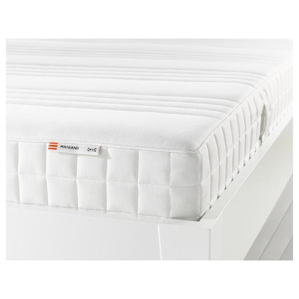 MATRAND Materac z pianki memory, twardy/biały, 160x200 cm