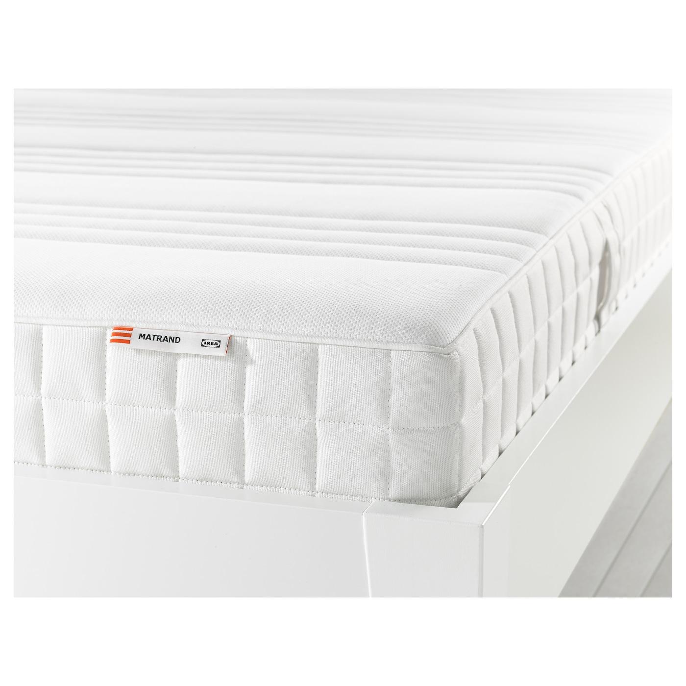 IKEA MATRAND, 80x200 cm, biały, twardy materac z pianki memory