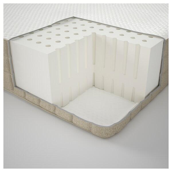 MAUSUND Materac z naturalnego lateksu, średnio twardy naturalny, 90x200 cm