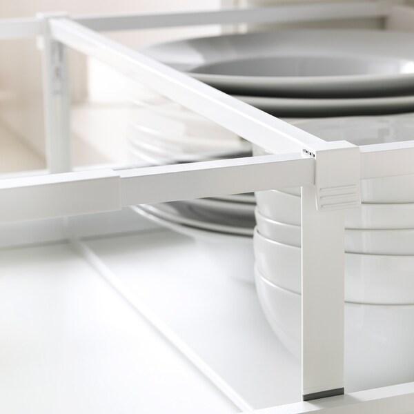 MAXIMERA Przegroda wysokiej szuflady, biały/przezroczysty, 60 cm
