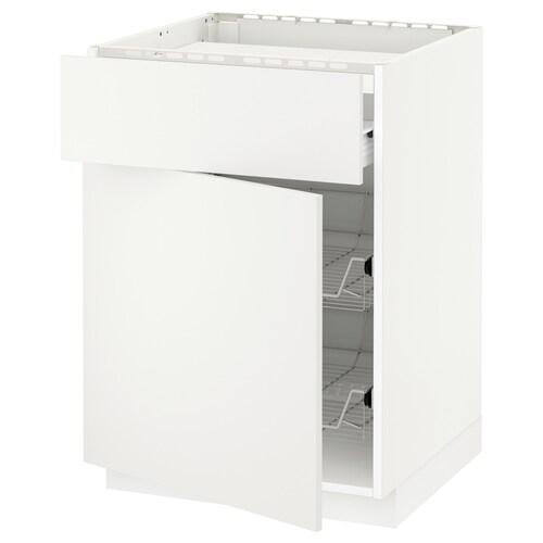 METOD / FÖRVARA sza st n pł/szu/2dr ko biały/Häggeby biały 60.0 cm 61.6 cm 88.0 cm 60.0 cm 80.0 cm