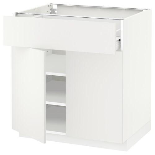 METOD / FÖRVARA sza stj szuf/2 drz biały/Häggeby biały 80.0 cm 61.6 cm 88.0 cm 60.0 cm 80.0 cm