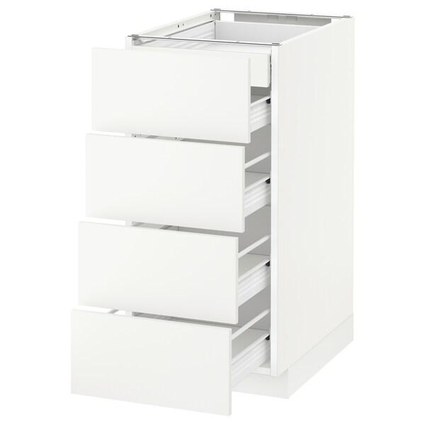 METOD / FÖRVARA sz stj 4fr/2n/3śr szu biały/Häggeby biały 40.0 cm 61.6 cm 88.0 cm 60.0 cm 80.0 cm