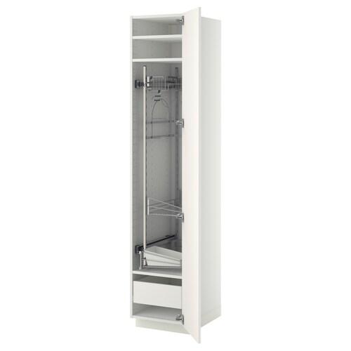 METOD / FÖRVARA szafka wysoka/wnętrz gosp biały/Veddinge biały 40.0 cm 61.6 cm 208.0 cm 60.0 cm 200.0 cm