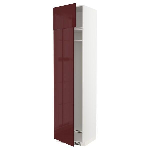 METOD sz wys d lod lub zamr z 2szu biały Kallarp/połysk ciemny czerwonobrązowy 60.0 cm 61.6 cm 248.0 cm 60.0 cm 240.0 cm