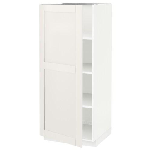 METOD szafka wysoka/półki biały/Sävedal biały 60.0 cm 61.8 cm 148.0 cm 60.0 cm 140.0 cm