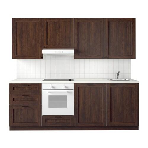 METOD Kuchnia  Edserum imitacja drewna brązowy  IKEA -> Kuchnia Ikea Metod