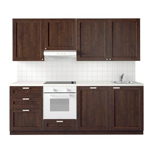 Metod Kuchnia Edserum Imitacja Drewna Brazowy Ikea