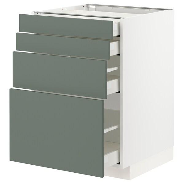 METOD / MAXIMERA sz stj 4fr/4szu biały/Bodarp szarozielony 60.0 cm 61.9 cm 88.0 cm 60.0 cm 80.0 cm
