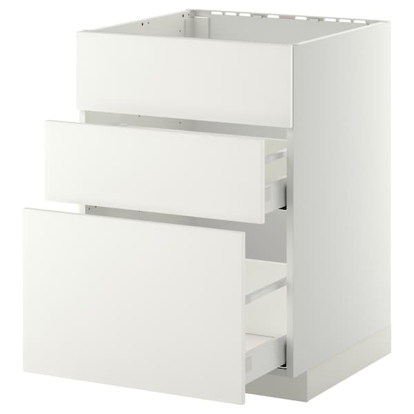 METOD / MAXIMERA sz stj zl+3fr/2szu biały/Häggeby biały 60.0 cm 61.6 cm 88.0 cm 60.0 cm 80.0 cm