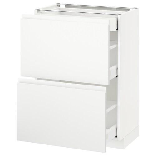 METOD / MAXIMERA sz stj 2fr/3szu biały/Voxtorp matowy biały 60.0 cm 39.1 cm 88.0 cm 37.0 cm 80.0 cm