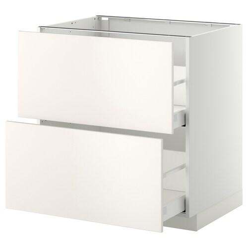 METOD / MAXIMERA sz stj 2fr/2w szu biały/Veddinge biały 80.0 cm 61.6 cm 88.0 cm 60.0 cm 80.0 cm