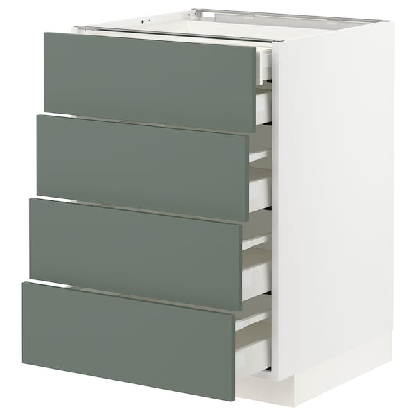 METOD / MAXIMERA sz stj 4fr/2n/3śr szu biały/Bodarp szarozielony 60.0 cm 61.6 cm 88.0 cm 60.0 cm 80.0 cm