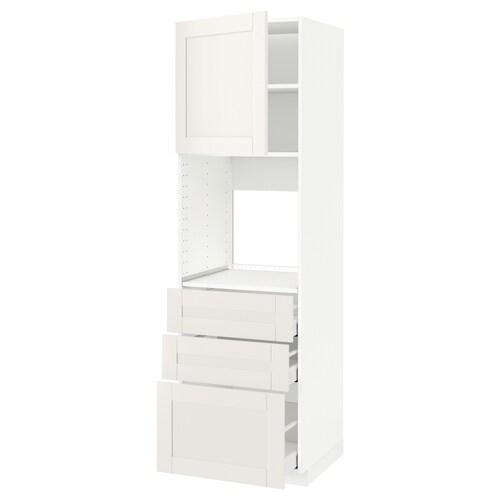 METOD / MAXIMERA szaf wys n piek/drz/3 szu biały/Sävedal biały 60.0 cm 61.8 cm 208.0 cm 60.0 cm 200.0 cm