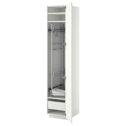 METOD / MAXIMERA szafka wysoka/wnętrz gosp biały/Ringhult biały 40.0 cm 61.6 cm 208.0 cm 60.0 cm 200.0 cm