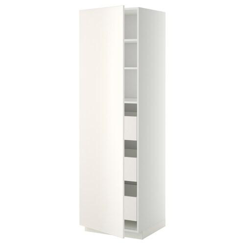 METOD / MAXIMERA szafka wysoka z szufladami biały/Veddinge biały 60.0 cm 61.6 cm 208.0 cm 60.0 cm 200.0 cm