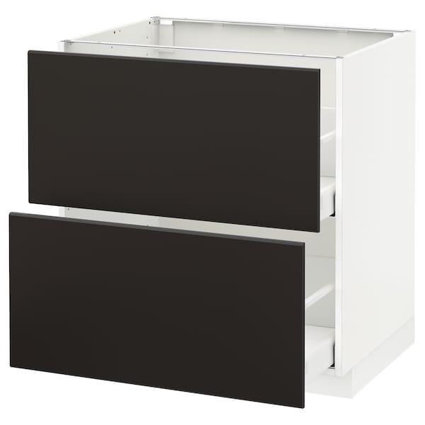 METOD / MAXIMERA Sz stj 2fr/2w szu, biały/Kungsbacka antracyt, 80x60 cm