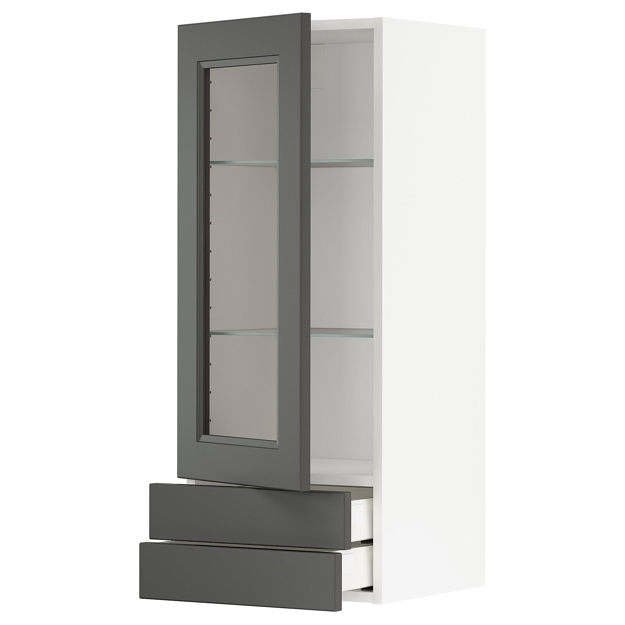 metod / maximera навісна шафазі скляними двер/2 шухл
