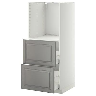 METOD / MAXIMERA Sza st wys pie/2szu, biały/Bodbyn szary, 60x60x140 cm