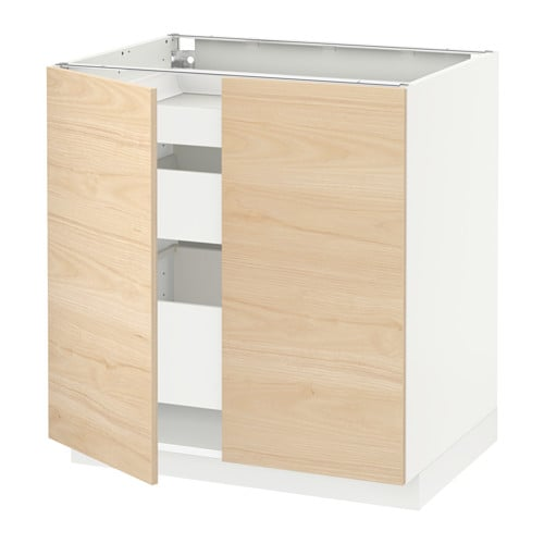 METOD  MAXIMERA Sza sto 2dr 3 szuf  biały, Askersund  IKE -> Kuchnia Ikea Askersund