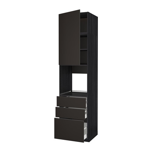 metod maximera szaf wys n piek drz 3 szu imitacja drewna czarny kungsbacka antracyt. Black Bedroom Furniture Sets. Home Design Ideas