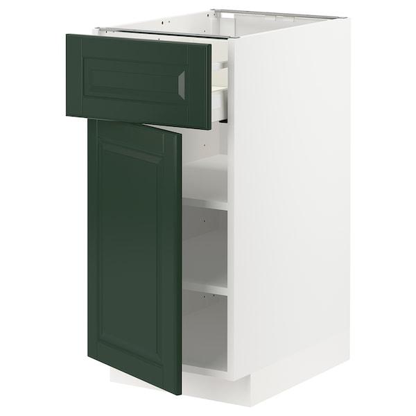 METOD / MAXIMERA Szafka stj szu/drzwi, biały/Bodbyn ciemnozielony, 40x60 cm