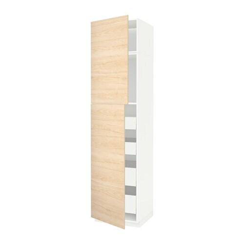 METOD  MAXIMERA W szafka z 2drzwi 4szufl  biały   -> Kuchnia Ikea Askersund