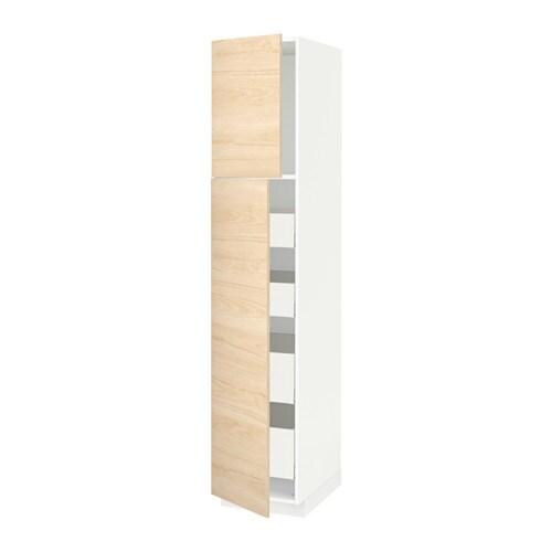 METOD  MAXIMERA W szafka z 2drzwi 4szufl  biały   # Kuchnia Ikea Askersund