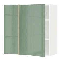 МЕТОД Nar й обручаются с половиной, белый, Kallarp светло-зеленый, 88x37x80 см