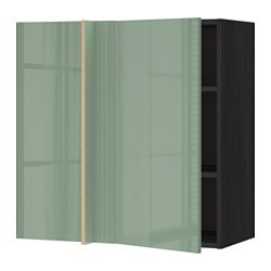 МЕТОД Nar й обручаются с половиной, черный, Kallarp светло-зеленый, 88x37x80 см
