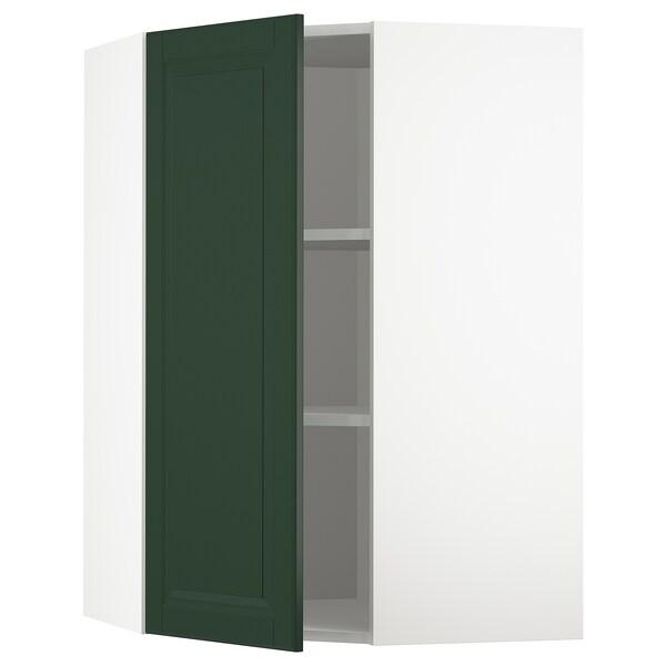 METOD Nar sza śc z pół, biały/Bodbyn ciemnozielony, 68x100 cm
