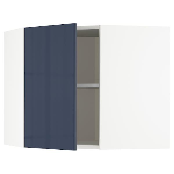 METOD Nar sza śc z pół, biały/Järsta czarnoniebieski, 68x60 cm