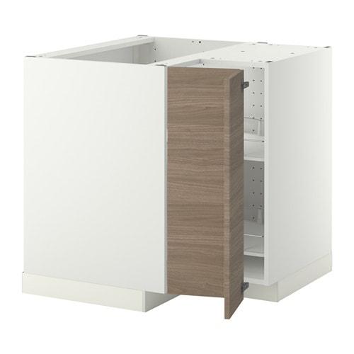 Ikea Godmorgon Korkea Kaappi ~   stojąca z karuzelą  Brokhult orzech jasnoszary, biały  IKEA