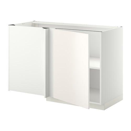 Luminaire Pour Chambre Garcon :  Narożna szafka stojąca z półką  biały, Veddinge biały  IKEA