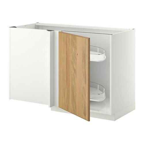 Cuisine Design Semi Ouverte :  szafka stojąca z wys półką  Hyttan okl dęb, biały  IKEA