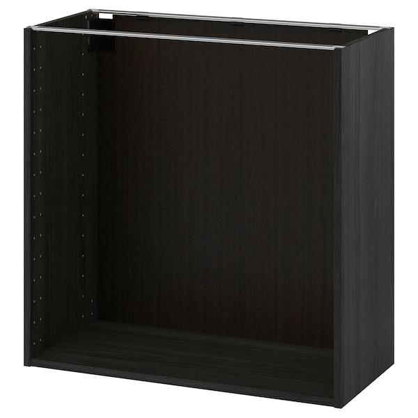 METOD Obud szafki stoj, imitacja drewna czarny, 80x37x80 cm