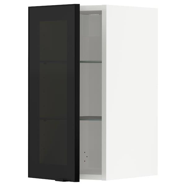 METOD Sza śc pół/szkl drz, biały/Jutis szkło, 30x60 cm