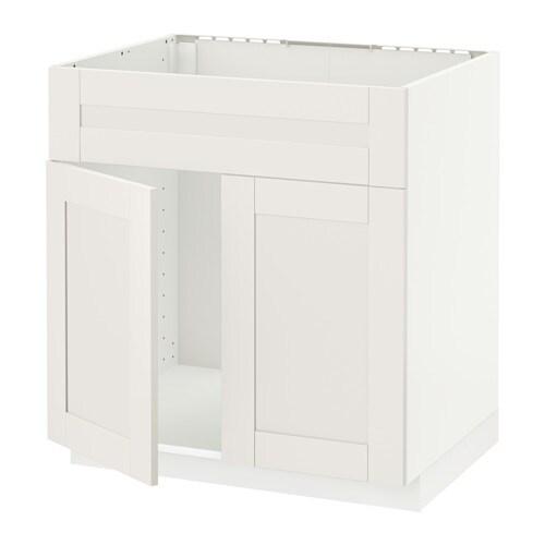 metod szaf sto zlew 2fr bia y s vedal bia y ikea. Black Bedroom Furniture Sets. Home Design Ideas