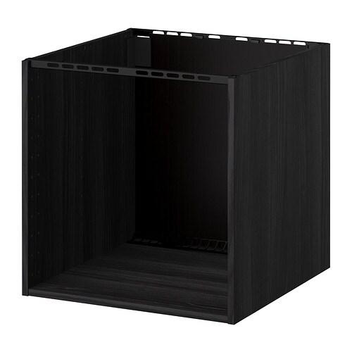 METOD Szafka do zabudowy kuchenki zlewu  imitacja drewna czarny, 60x60x60 cm