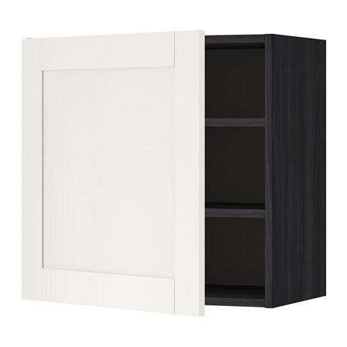 metod szafka cienna z p kami imitacja drewna czarny s vedal bia y 60x60 cm ikea. Black Bedroom Furniture Sets. Home Design Ideas