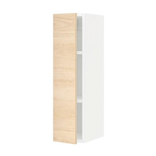 METOD Szafka ścienna z półkami  biały, Askersund, 20×80   -> Kuchnia Ikea Askersund