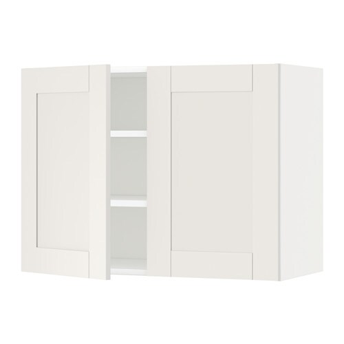 metod szafka cienna z p kami 2 drzwi bia y s vedal bia y 80x60 cm ikea. Black Bedroom Furniture Sets. Home Design Ideas